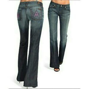 7 For All Mankind Pink A- Pocket Jeans